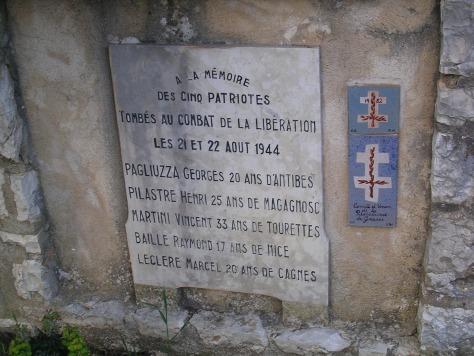 Falecidos na batalla da liberación. Gourdon