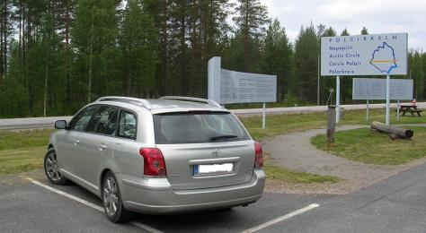 Limite do Círculo Polar Ártico na E10 (Suecia)