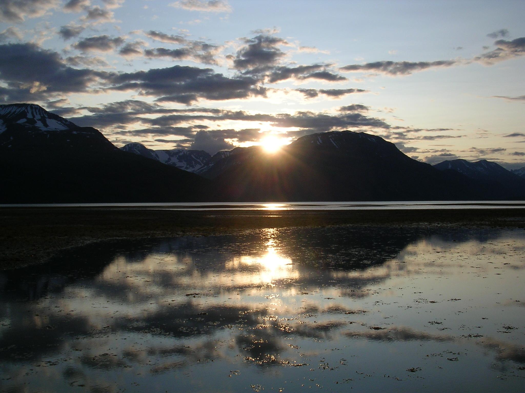 Atardecer en Skibotn (Noruega)