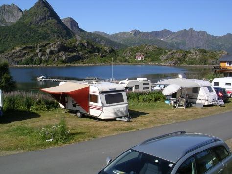 Camping Orsvågvær, en Kabelvåg (Lofoten, Noruega)