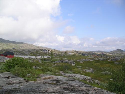 Cabañas, preto da fronteira con Suecia
