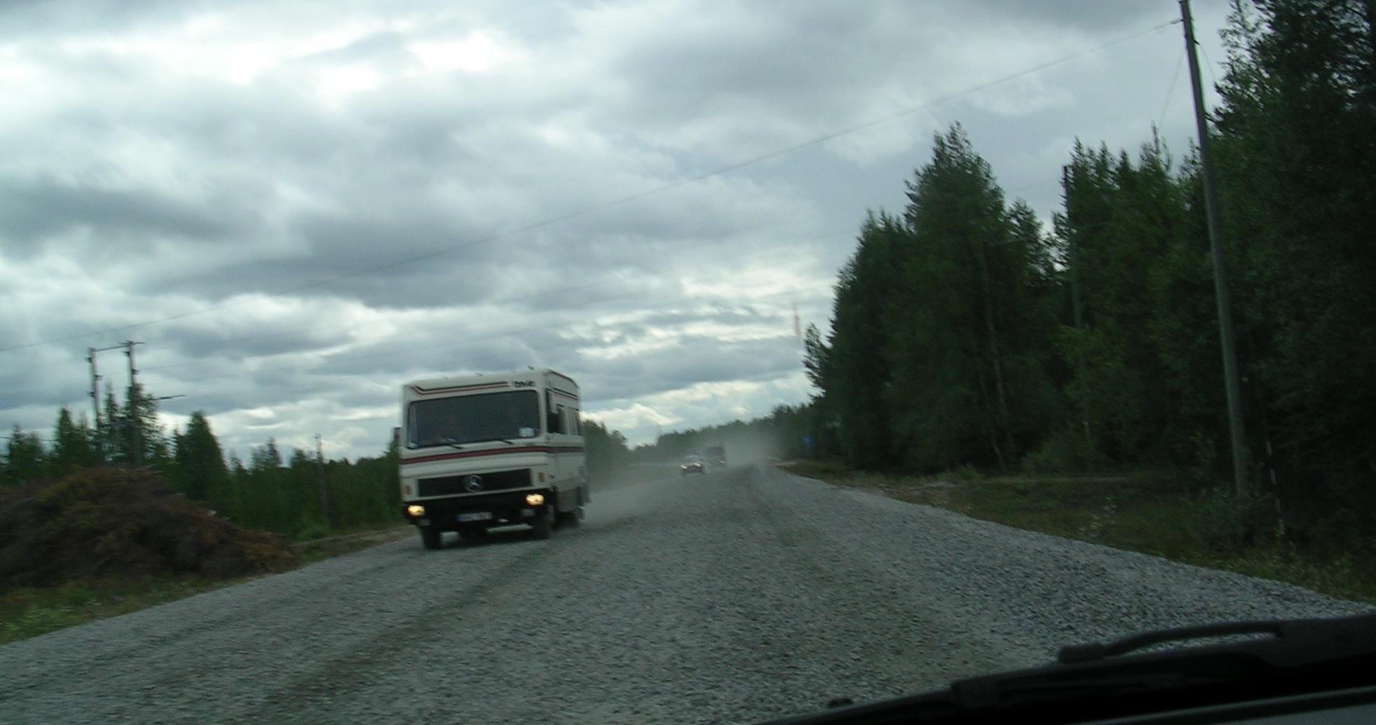 Interminables obras sen sinalizar na E10 (Suecia)