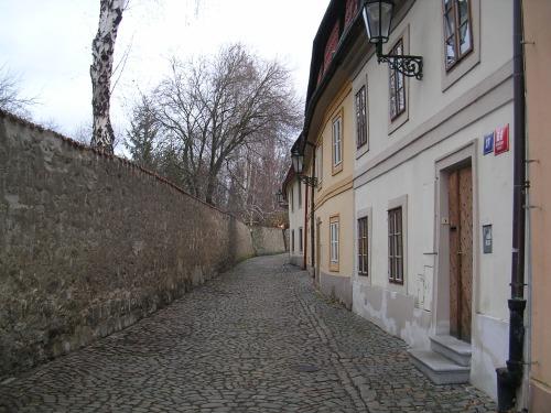 Rua na parte alta da cidade