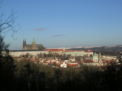 Catedral de San Vito dende o Monte Petřín
