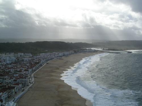 Nazaré e a sua praia vista dende O Sitio