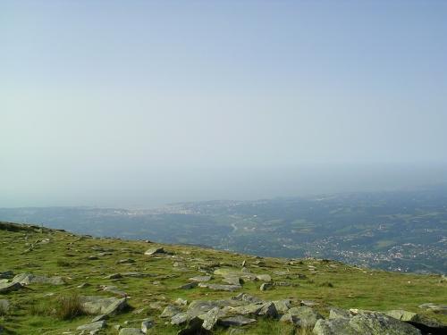 O Iparralde dende o Pico Larrun