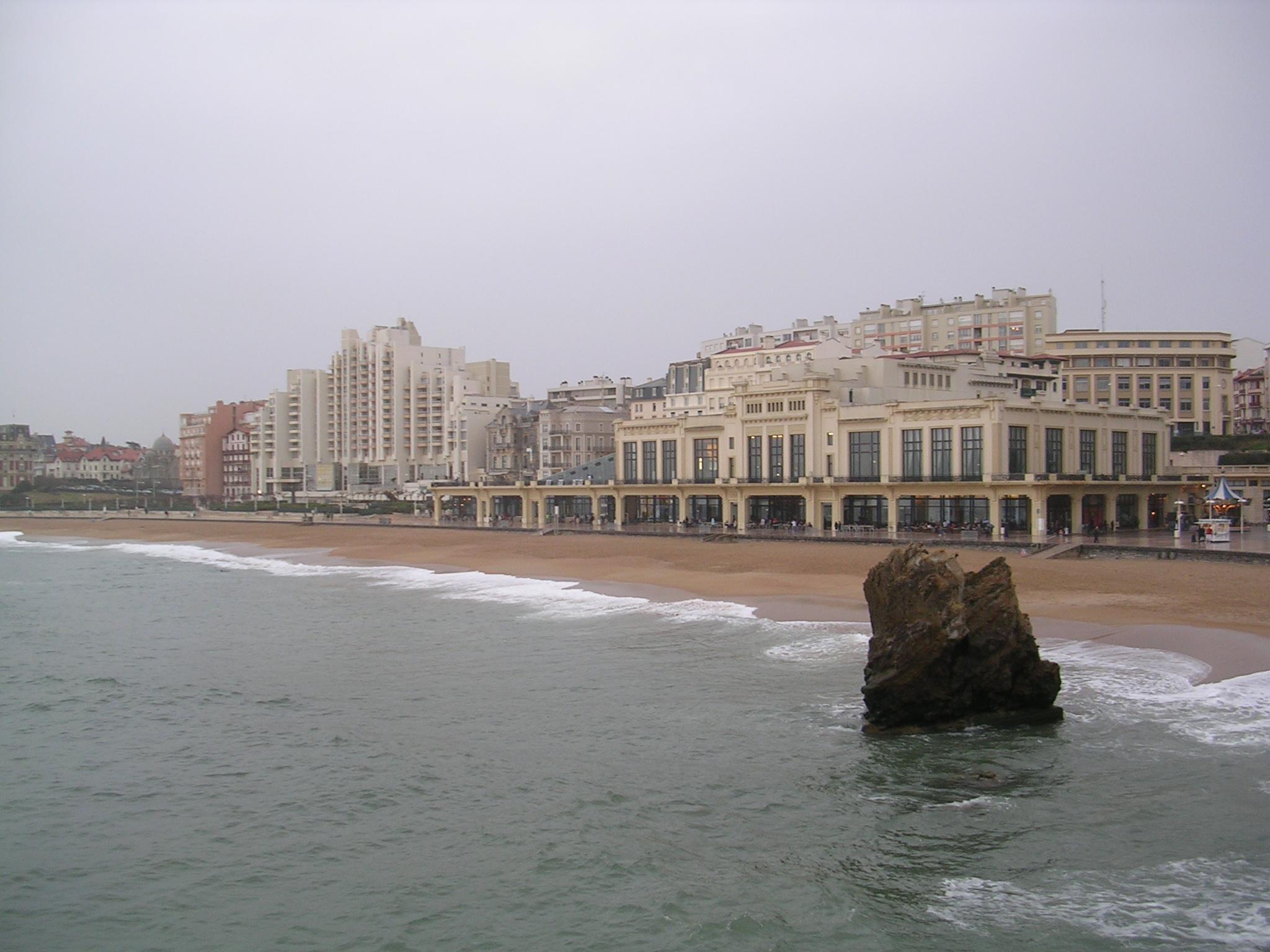 Casino e praia de Biarritz