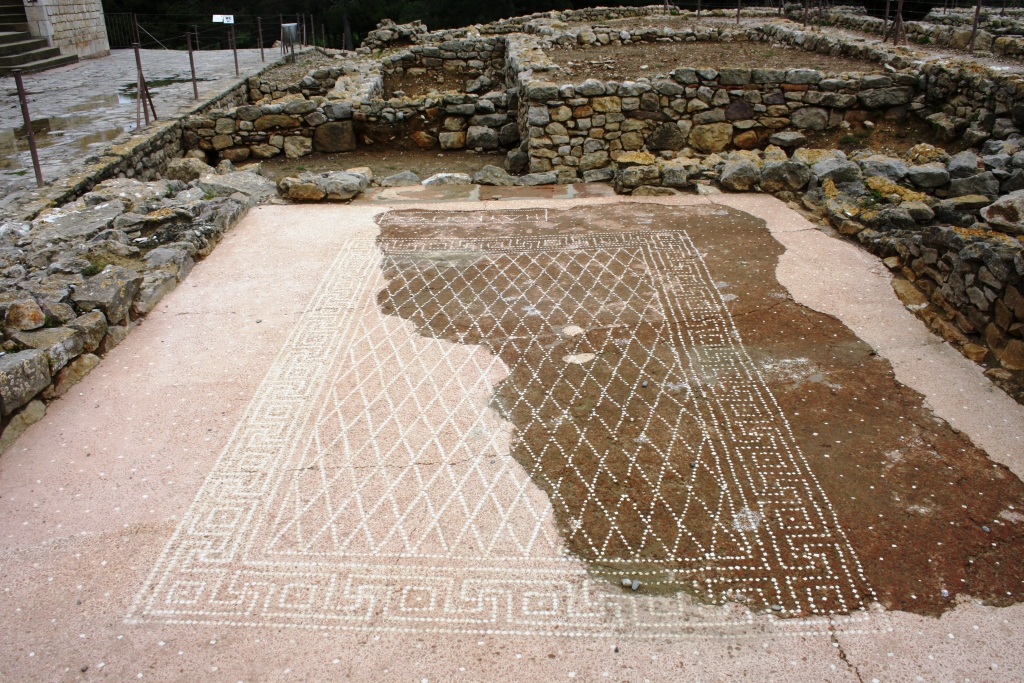 Mosaico grego en Empúries