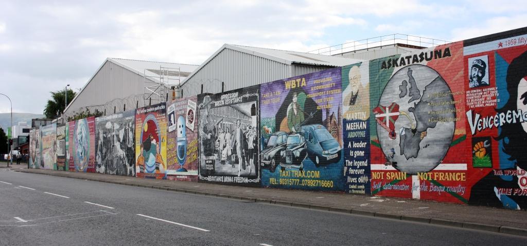 Murales en la Falls Road, Belfast (barrio republicano)