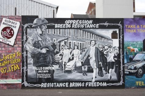 Mural na Falls Road, Belfast