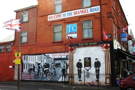 Shankill Road, Belfast (barrio unionista)