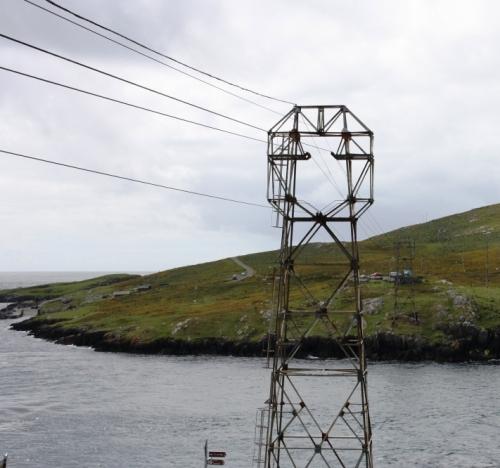Teleférico que une a Península de Beara coa Illa de Dursey