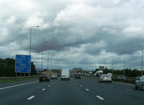 A autoestrada M6, preto de Manchester