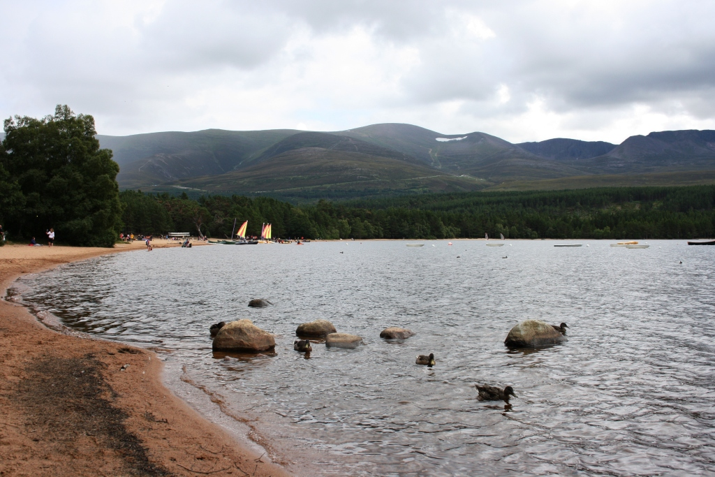 Loch Morlich en los Cairngorms National Park