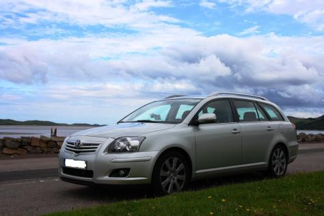 Mi coche, en algún lugar del norte de Escocia