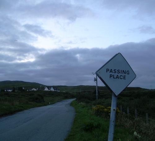 Passing place, en Escocia