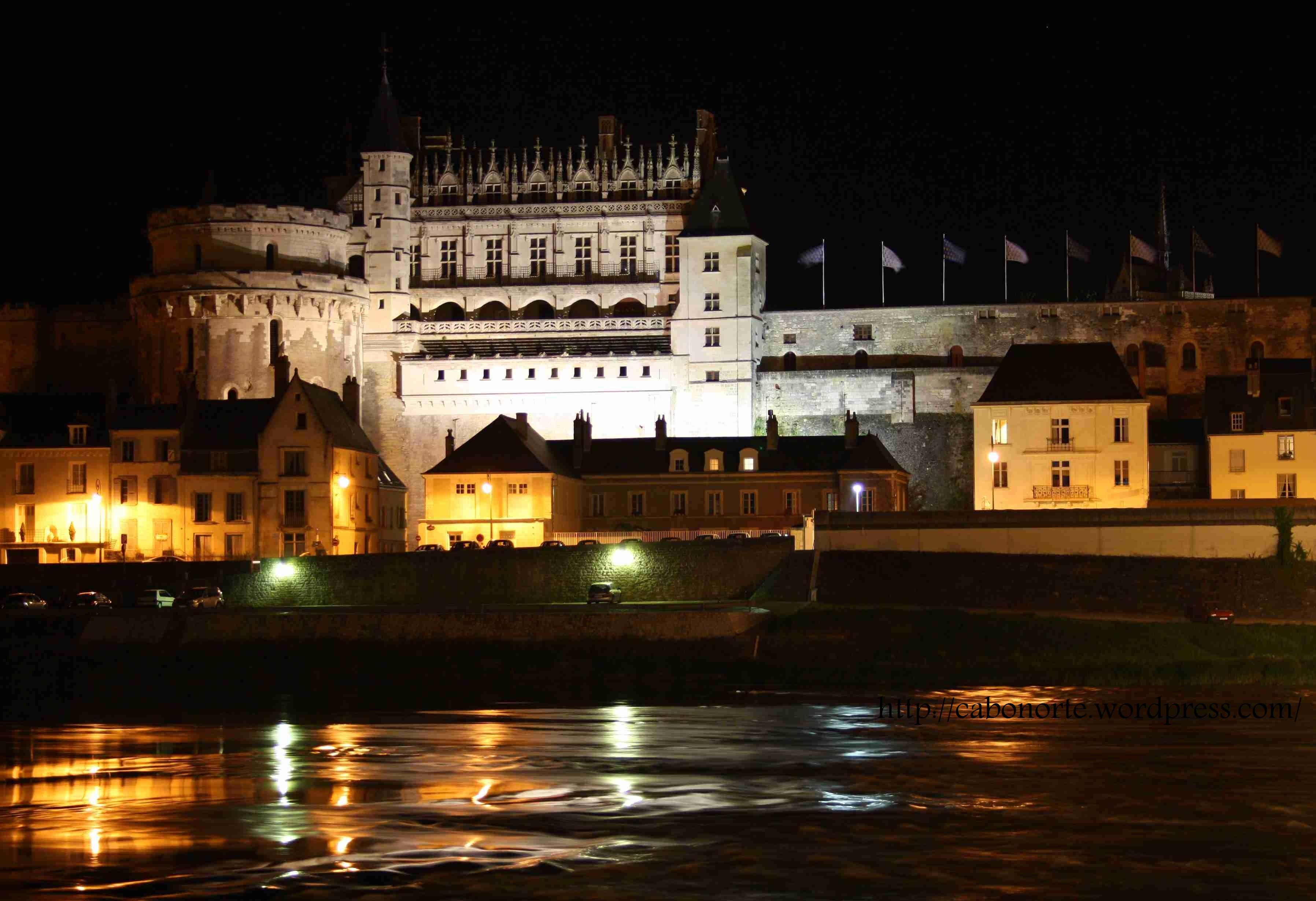 Castelo de Amboise, ó carón do Río Loira. Abril de 2011