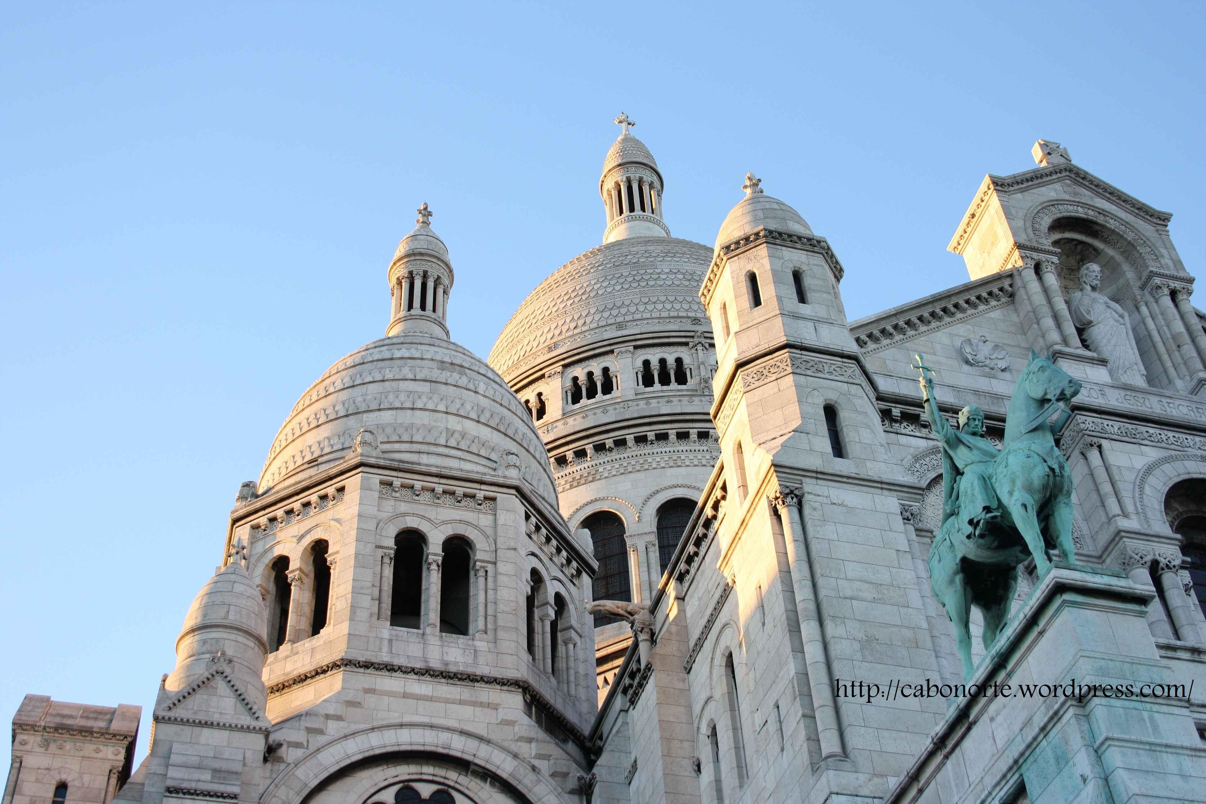 Detalle da Basílica do Sacré Coeur de París. Xullo de 2010