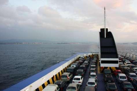 Saindo de Xixón no ferry Xixón - St Nazaire
