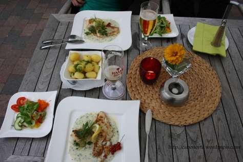Nuestra cena en Worpswede. Alemania