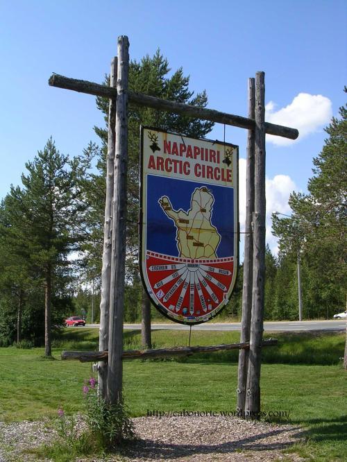 Arctic Circle in Rovaniemi, Finland