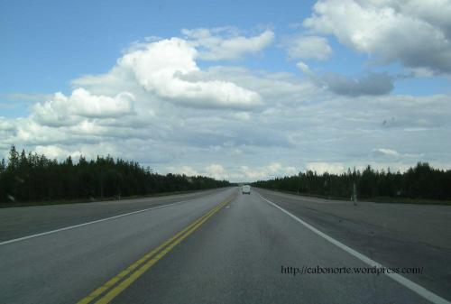 A road and airport. Finland