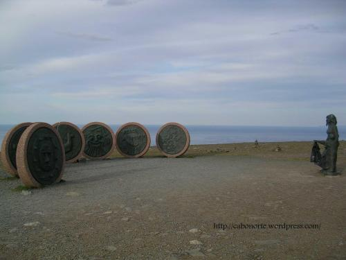 The Children of the Earth Monument in North Cape, Norway