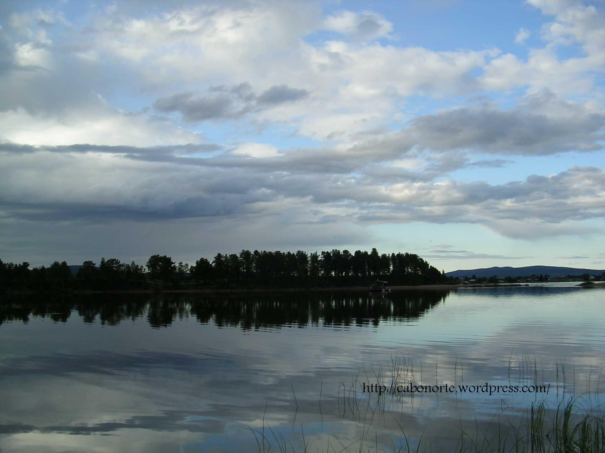 Lake in Jukkasjärvi, Sweden