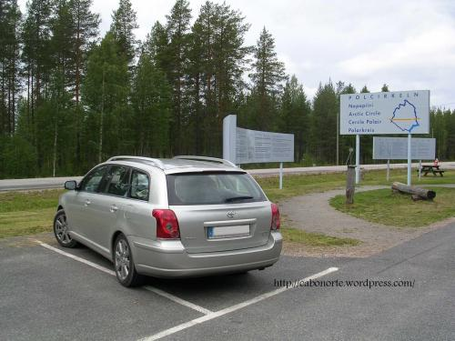Crossing The Arctic Cicle in Sweden
