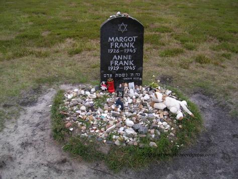 Here died Anne Frank, Bergen-Belsen concentration camp, Germany