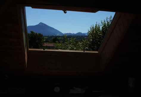 El Mont Blanc, desde el apartamento de Filinges