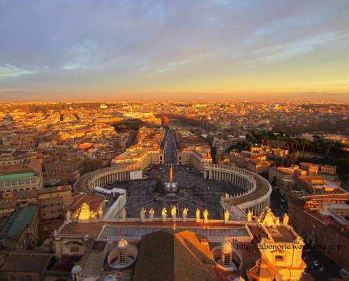 Views from the Dome of Saint Peter's Basilica