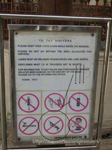 Por favor, dejen las armas fuera!
