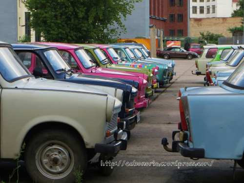 Trabants en Berlin