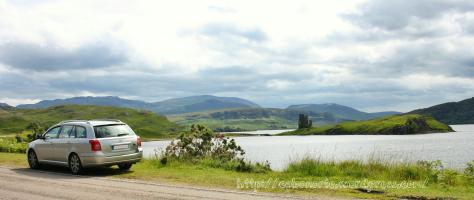 En Escocia co meu coche