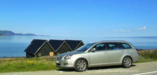 Cerca del Cabo Norte en Noruega, julio 2009