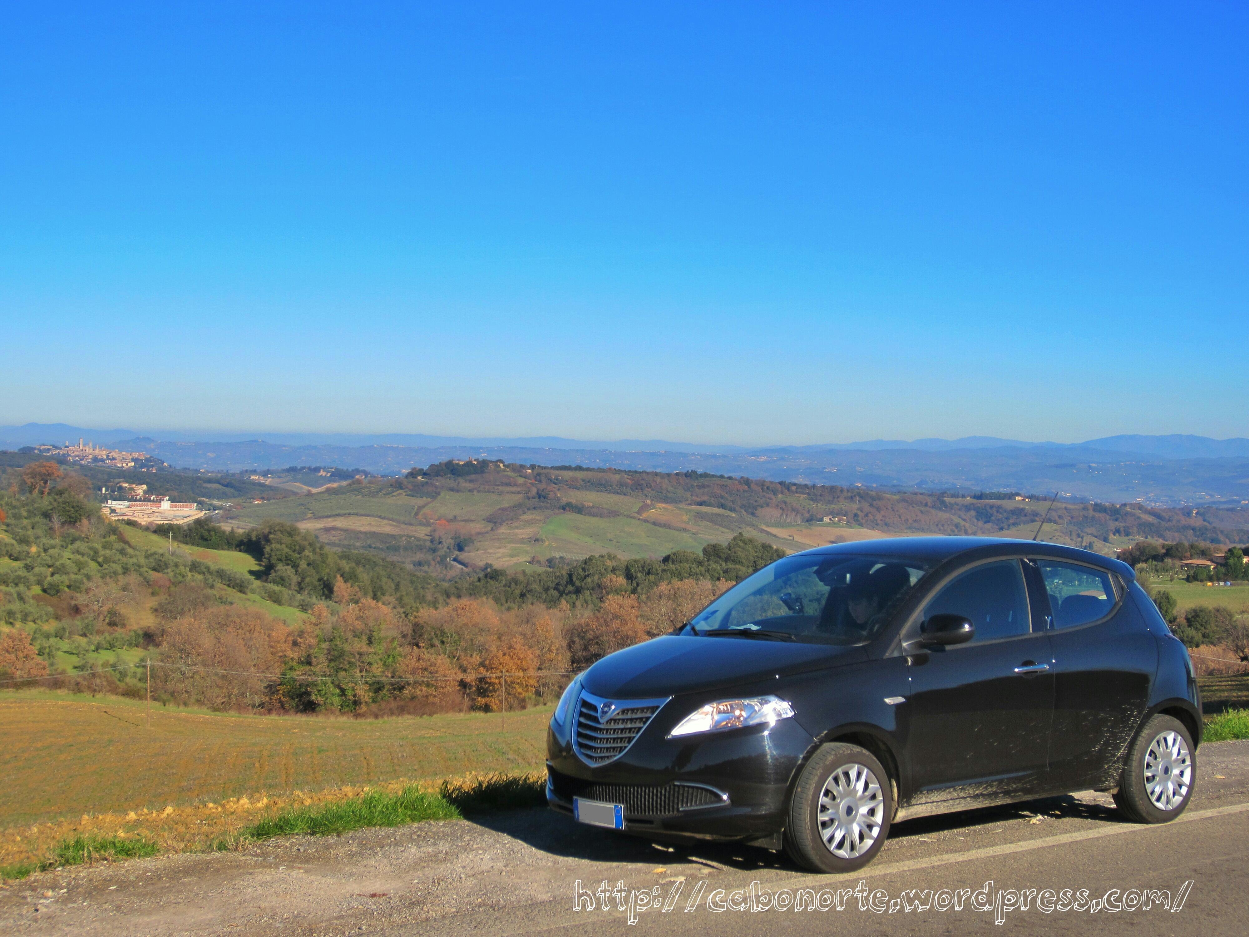 La Toscana en coche de alquiler, Italia, diciembre 2012