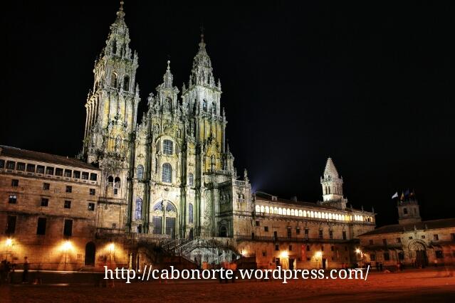 La catedral desde la Praza do Obradoiro