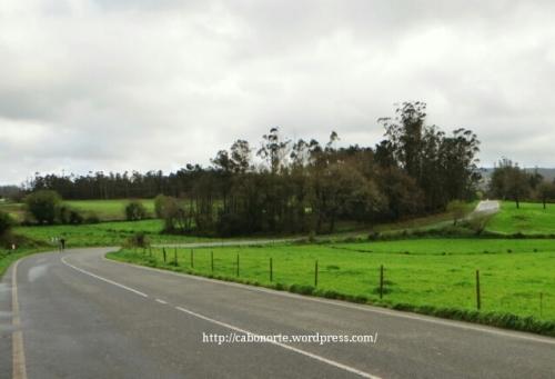 Tramo del Camino por carretera