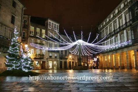 Praza de Cervantes en navidad