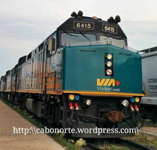Locomotora do Tren Transcanadiense