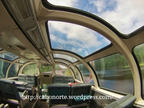 No vagón panorámico