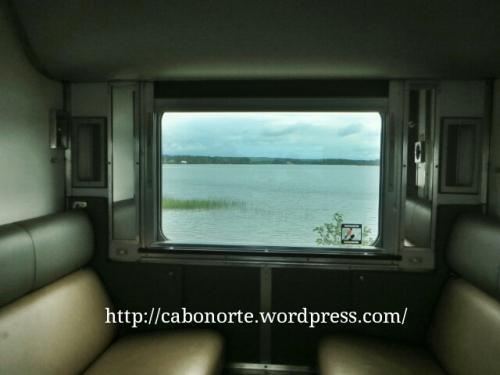 A paisaxe dende a xanela