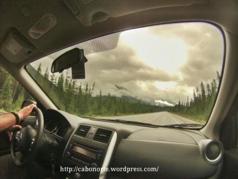 En coche pola Estrada dos Glaciares