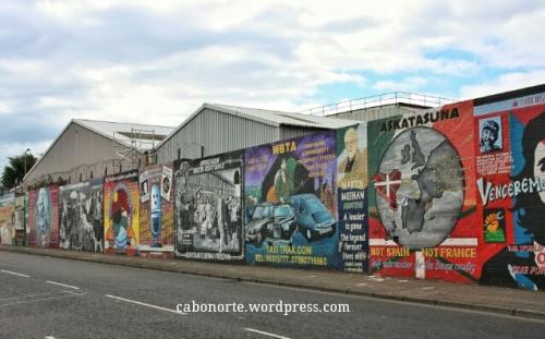 Mural no barrio católico de Belfast