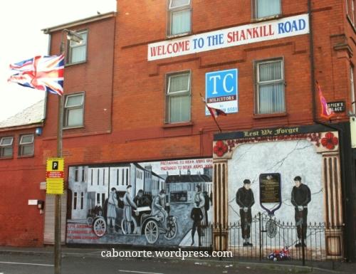 Barrio protestante en Belfast