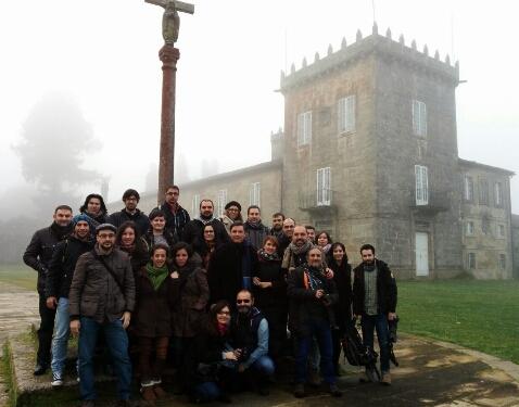 Os participantes no blogtrip polo Concello de A Estrada