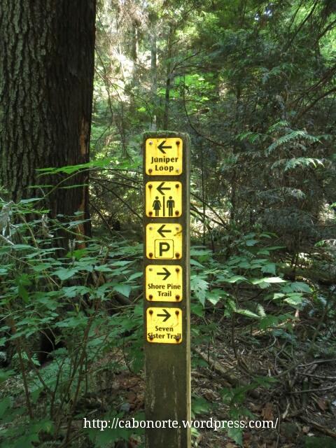 Ruta sinalizada preto de Vancouver