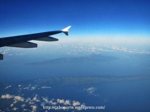 Voando sobre as Azores