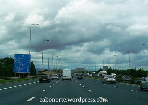 A autoestrada M6 preto de Manchester